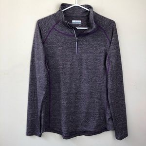 Columbia size L long sleeve athletic zip shirt